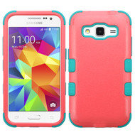 Military Grade Certified TUFF Hybrid Case for Samsung Galaxy Core Prime / Prevail LTE - Pink Teal