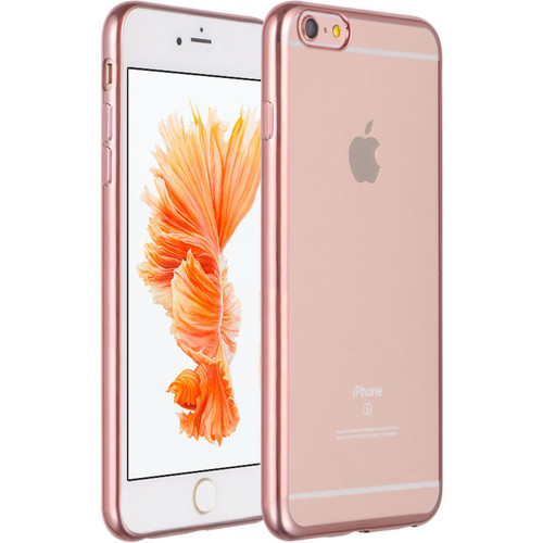 ... Clear TPU Case for iPhone 6 Plus / 6S Plus - Rose Gold - HD Accessory