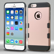 Military Grade Certified TUFF Trooper Dual Layer Hybrid Case for iPhone 6 / 6S - Rose Gold