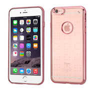 SPOTS Electroplated Premium Candy Skin Cover for iPhone 6 Plus / 6S Plus - Rose Gold