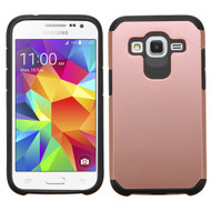 Hybrid Multi-Layer Armor Case for Samsung Galaxy Core Prime / Prevail LTE - Rose Gold