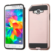 Brushed Hybrid Armor Case for Samsung Galaxy Grand Prime - Rose Gold