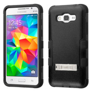 Military Grade CertifiedTUFF Hybrid Kickstand Case for Samsung Galaxy Grand Prime - Black