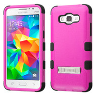 Military Grade Certified TUFF Hybrid Kickstand Case for Samsung Galaxy Grand Prime - Hot Pink