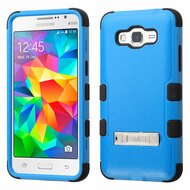Military Grade Certified TUFF Hybrid Kickstand Case for Samsung Galaxy Grand Prime - Blue