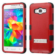Military Grade TUFF Hybrid Kickstand Case for Samsung Galaxy Grand Prime - Red