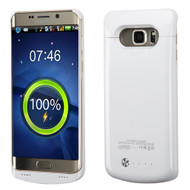 Quantum Energy Power Bank Battery Charger Case 4200mAh for Samsung Galaxy S6 Edge Plus - White
