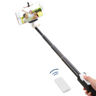 Selfie Stick with Wireless Remote Shutter Control - White