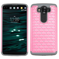 TotalDefense Diamond Hybrid Case for LG V10 - Pink Grey