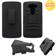 Advanced Armor Hybrid Kickstand Case with Holster for LG V10 - Black