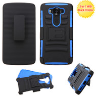 Advanced Armor Hybrid Kickstand Case with Holster for LG V10 - Black Blue