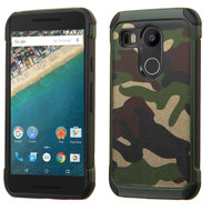 *SALE* Tough Anti-Shock Hybrid Case for LG Google Nexus 5X - Camouflage