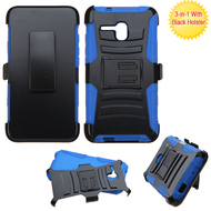 *SALE* Advanced Armor Hybrid Kickstand Case with Holster for Alcatel OneTouch Fierce XL - Black Blue
