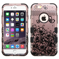 Military Grade Certified TUFF Image Hybrid Case for iPhone 6 Plus / 6S Plus - Lace Flower Rose Gold