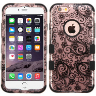 *SALE* Military Grade TUFF Image Hybrid Case for iPhone 6 Plus / 6S Plus - Leaf Clover Rose Gold