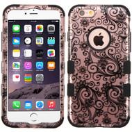 *SALE* Military Grade TUFF Image Hybrid Case for iPhone 6 Plus / 6S Plus - Leaf Clover Rose Gold