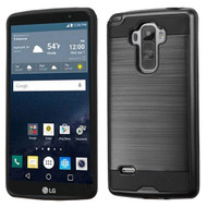 Brushed Hybrid Armor Case for LG G Stylo / Vista 2 - Black