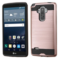 Brushed Hybrid Armor Case for LG G Stylo / Vista 2 - Rose Gold