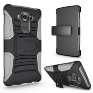 *SALE* Advanced Armor Hybrid Kickstand Case with Holster for LG V10 - Black Grey