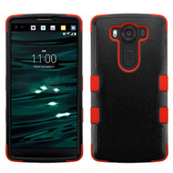 Military Grade Certified TUFF Hybrid Case for LG V10 - Black Red
