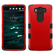 Military Grade Certified TUFF Hybrid Case for LG V10 - Red