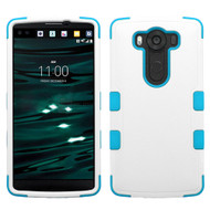 Military Grade Certified TUFF Hybrid Case for LG V10 - White Teal