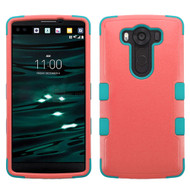 Military Grade Certified TUFF Hybrid Case for LG V10 - Pink Teal