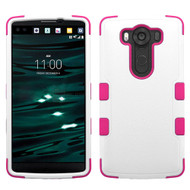 Military Grade Certified TUFF Hybrid Case for LG V10 - White Hot Pink