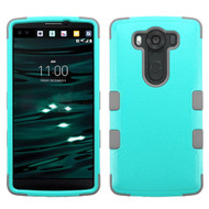Military Grade Certified TUFF Hybrid Case for LG V10 - Teal Grey