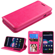 *Sale* Book-Style Leather Folio Case for ZTE Obsidian - Hot Pink