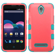 *Sale* Military Grade TUFF Hybrid Case for ZTE Obsidian - Pink Teal