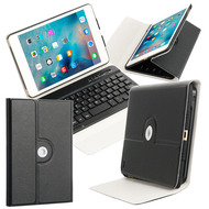 *SALE* 360 Degree Rotating Case with Removable Bluetooth Wireless Keyboard for iPad Mini 4 - Black