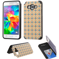 Credit Card Hybrid Kickstand Case for Samsung Galaxy Grand Prime - Cooper Coins