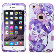 Military Grade Certified TUFF Image Hybrid Case for iPhone 6 Plus / 6S Plus - Hibiscus Flower Romance Purple
