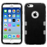 Military Grade Certified TUFF Hybrid Case for iPhone 6 / 6S - Black Grey