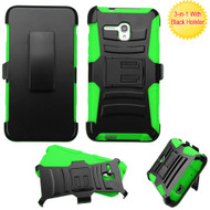 *Sale* Advanced Armor Hybrid Kickstand Case with Holster for Alcatel OneTouch Fierce XL - Black Green