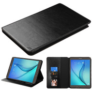 Book-Style Leather Folio Case for Samsung Galaxy Tab A 9.7 - Black