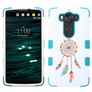 Military Grade Certified TUFF Image Hybrid Case for LG V10 - Pastel Dreamcatcher