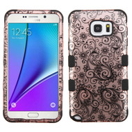 Military Grade Certified TUFF Image Hybrid Case for Samsung Galaxy Note 5 - Leaf Rose Gold