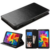 Book-Style Leather Folio Case for Samsung Galaxy Tab 4 7.0 - Black