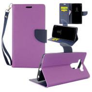 *Sale* Leather Wallet Shell Case for LG V10 - Purple