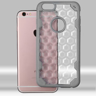 Challenger Honeycomb Hybrid Case for iPhone 6 Plus / 6S Plus - Grey