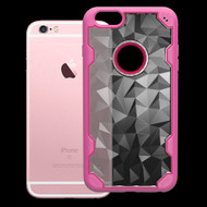 Challenger Polygon Hybrid Case for iPhone 6 Plus / 6S Plus - Hot Pink