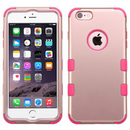 Military Grade TUFF Hybrid Case for iPhone 6 Plus / 6S Plus - Rose Gold Hot Pink