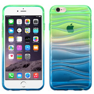 *SALE* Ripple Textured Gradient Transparent Candy Case for iPhone 6 Plus / 6S Plus - Green Blue