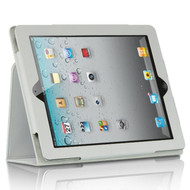 *SALE* Leather Folio Smart Stand Case for iPad 2, iPad 3 and iPad 4th Generation - White