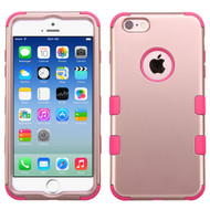 Military Grade Certified TUFF Hybrid Case for iPhone 6 / 6S - Rose Gold Hot Pink