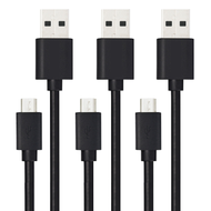 *SALE* Micro USB Data Sync and Charging Cable - 3 Pack Black
