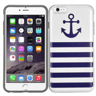 Slidable Card Wallet Hybrid Case for iPhone 6 / 6S - Nautical