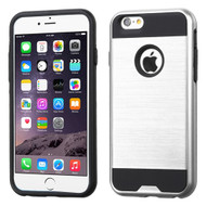 Brushed Hybrid Armor Case for iPhone 6 Plus / 6S Plus - Silver